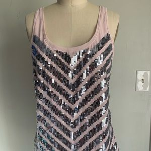 Express sequin tank S with tags